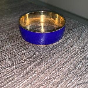 JCREW purple and gold bangle